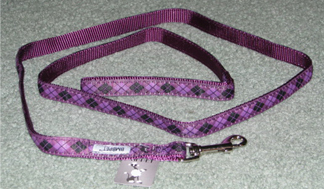 Purple and Argyle Dog Leash