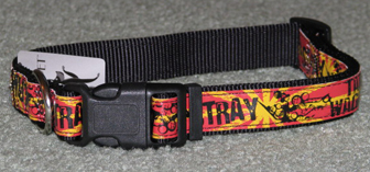 Black, Red and Yellow Dog Collar