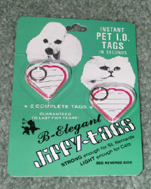Jiffy-Tags for Dogs