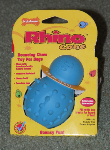 Rhino Cone Dog Toy