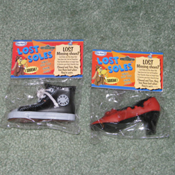 Toy shoes for dogs.