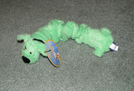 Green bungee dog toy