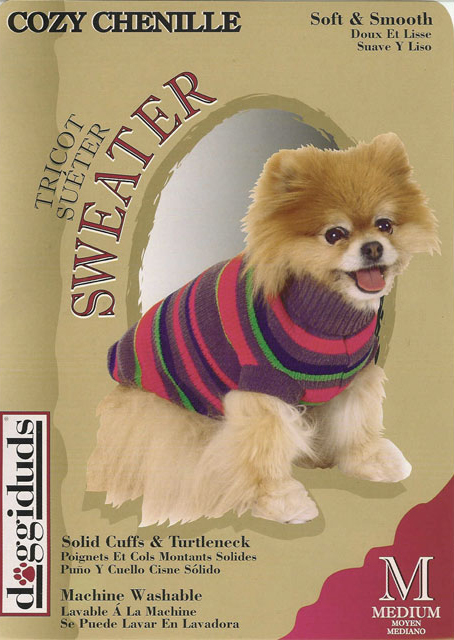 Chenille dog sweater.