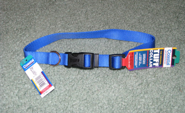Blue tuff nylon dog collar.